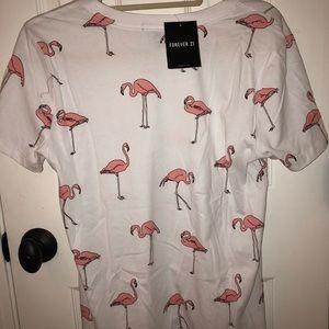 forever 21 flamingo tshirt